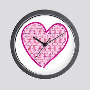Lets Cure Cancer Heart Wall Clock