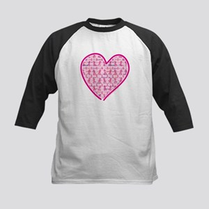Lets Cure Cancer Heart Kids Baseball Jersey