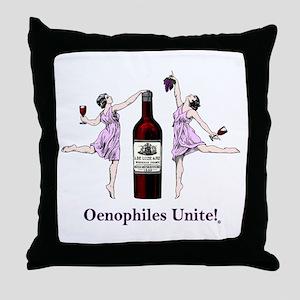 Oenophiles Unite! Throw Pillow