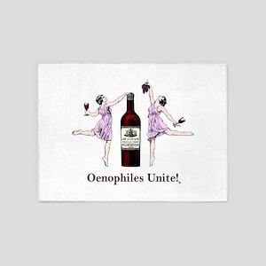 Oenophiles Unite! 5'x7'Area Rug