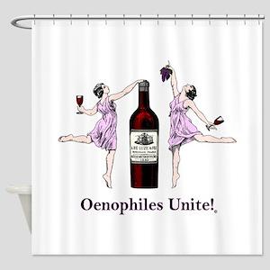 Oenophiles Unite! Shower Curtain
