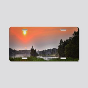 Country Sunset Aluminum License Plate
