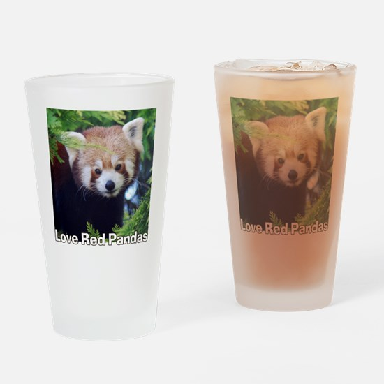 Love Red Pandas Drinking Glass