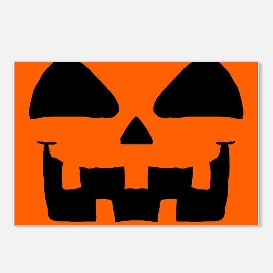 Pumpkin face Postcards (Package of 8)
