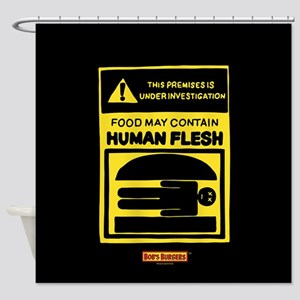 Bob's Burgers Human Flesh Shower Curtain