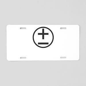 BBTF Day Plus Minus Circle Dark Aluminum License P