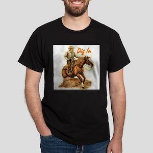 Reining Horse, Dark T-Shirt