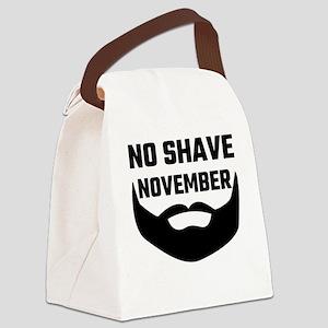 No Shave November Canvas Lunch Bag