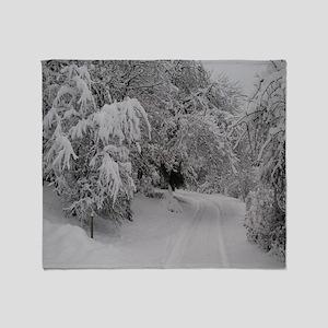 Winter Forest Throw Blanket