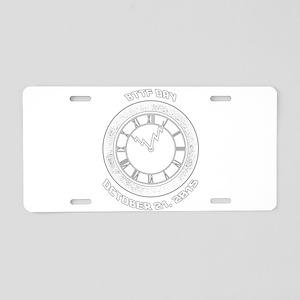 BTTF Day Clock Tower Design Aluminum License Plate