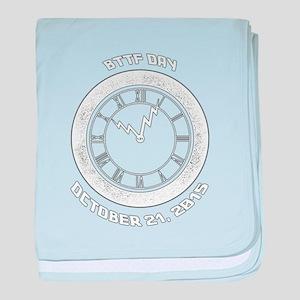 BTTF Day Clock Tower Design baby blanket