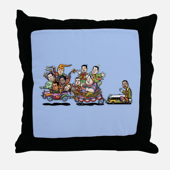 GOP Clown Car 10-'15 Throw Pillow