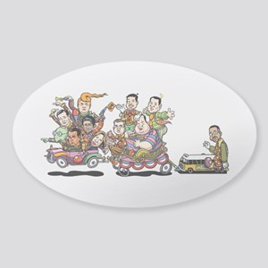 GOP Clown Car 10-'15 Sticker (Oval)