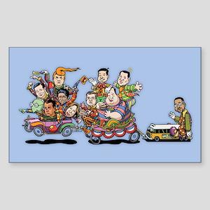 GOP Clown Car 10-'15 Sticker (Rectangle)