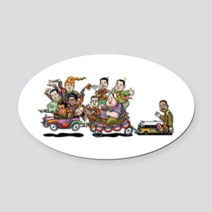 GOP Clown Car 10-'15 Oval Car Magnet