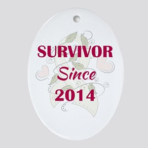SURVIVOR SINCE... Oval Ornament