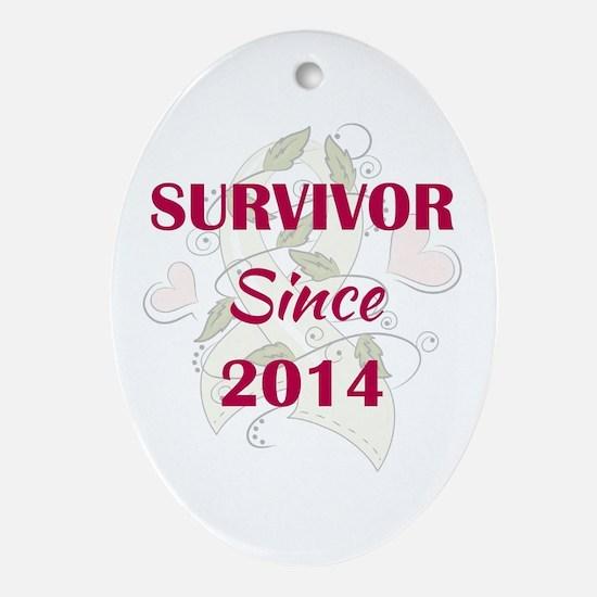 SURVIVOR SINCE... Oval Ornament