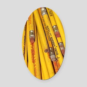 Pencils Oval Car Magnet