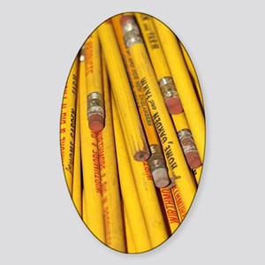 Pencils Sticker (Oval)