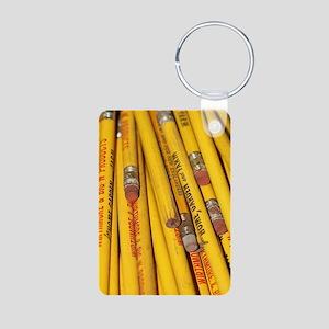 Pencils Aluminum Photo Keychain
