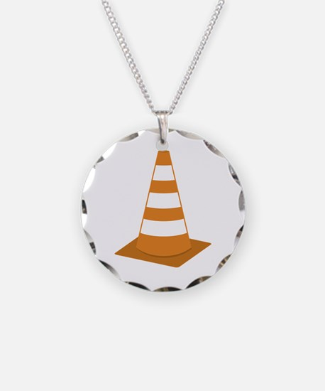 Traffic Cone Necklace