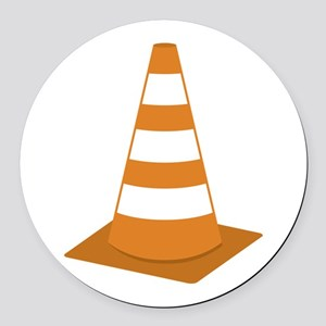 Traffic Cone Round Car Magnet