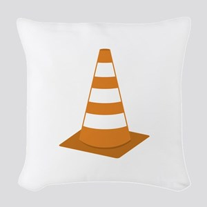 Traffic Cone Woven Throw Pillow