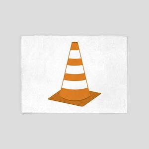 Traffic Cone 5'x7'Area Rug