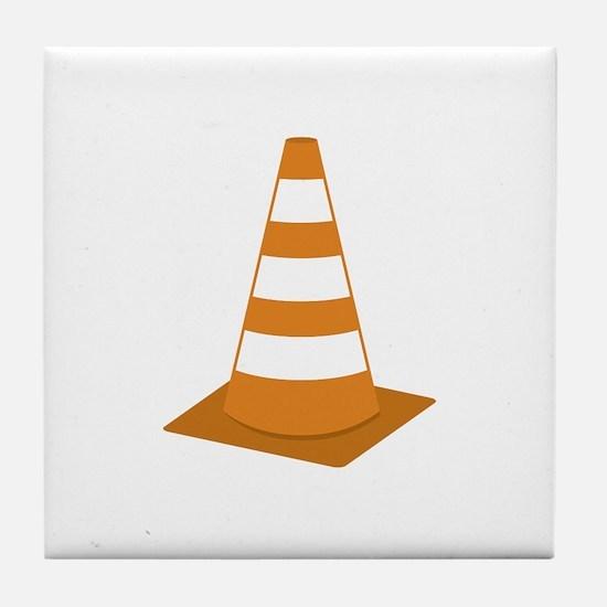 Traffic Cone Tile Coaster