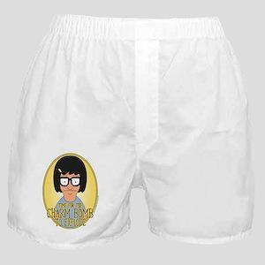 Bob's Burgers Tina Charm Bomb Boxer Shorts
