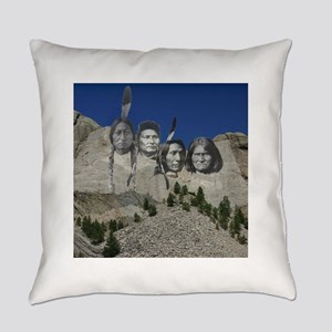 Native Mt. Rushmore Everyday Pillow