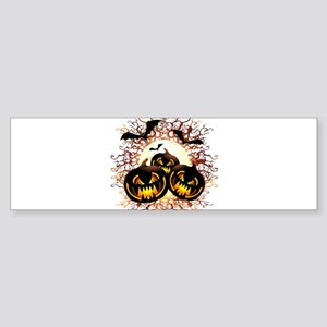 Black Pumpkins Halloween Night Bumper Sticker