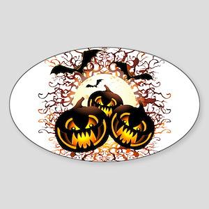 Black Pumpkins Halloween Night Sticker