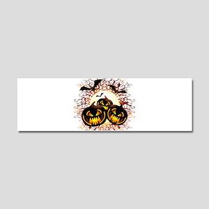 Black Pumpkins Halloween Night Car Magnet 10 x 3