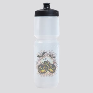 Black Pumpkins Halloween Night Sports Bottle