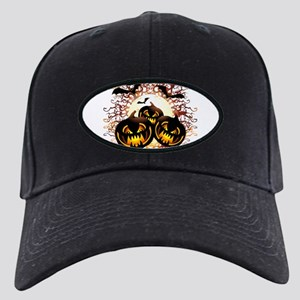 Black Pumpkins Halloween Night Baseball Cap