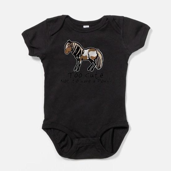 Cute Pinto horse Baby Bodysuit