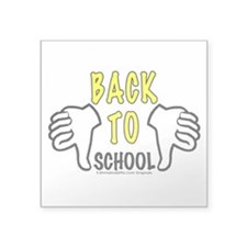 Two Thumbs Down School Square Sticker 3
