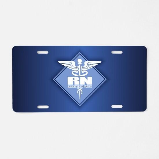 Cad RN (diamond) Aluminum License Plate