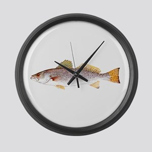 Speckled Trout Large Wall Clock