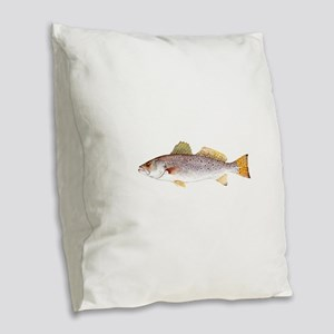 Speckled Trout Burlap Throw Pillow