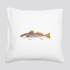 Speckled Trout Square Canvas Pillow