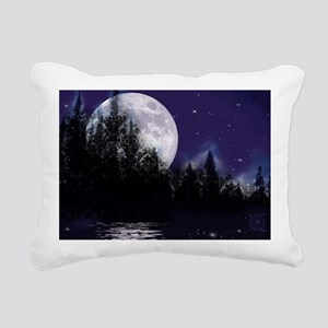 Trip to Hidden Lake Moon Rectangular Canvas Pillow