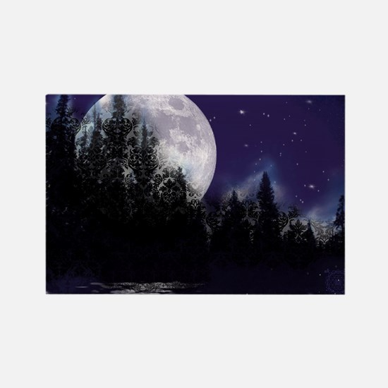 Trip to Hidden Lake Moon Rectangle Magnet