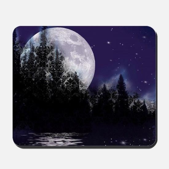 Trip to Hidden Lake Moon Mousepad
