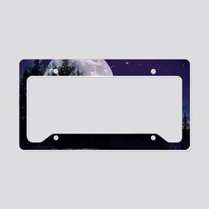 Trip to Hidden Lake Moon License Plate Holder