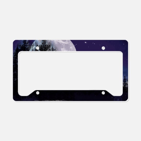 Trip to Hidden Lake Moon License Plate Holder