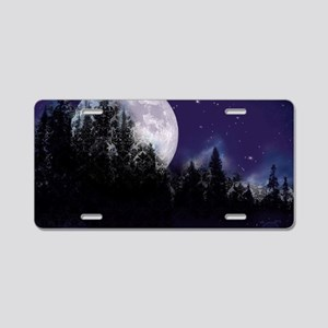 Trip to Hidden Lake Moon Aluminum License Plate