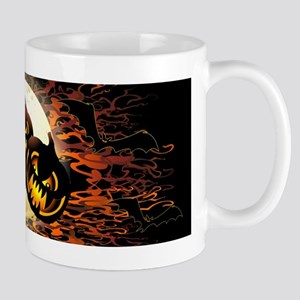 Black Pumpkins Halloween Night Mugs