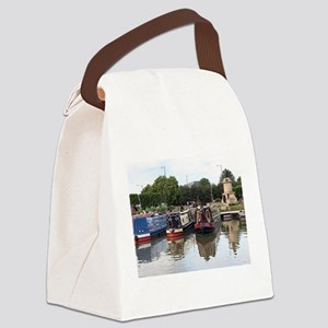 Stratford Upon Avon barges Canvas Lunch Bag